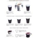 Pohár kávový hnedo biely 0,18 l 100 ks