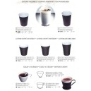 Pohár kávový hnedo biely 0,2 l 100 ks